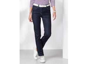 Walbusch Damen Tencel Superstretch-Jeans Slim Fit einfarbig Darkblue