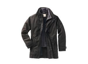 Aigle Herren Kurz-Mantel Regular Fit Schwarz einfarbig