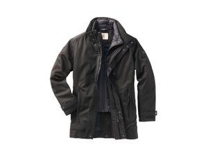 Aigle Herren kurzer Mantel Regular Fit Schwarz einfarbig