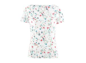 Shirt mit U-Boot-Ausschnitt kurzer Arm in weiß für Damen von bonprix