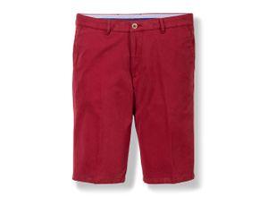 Walbusch Herren Bermuda-Hose Regular Fit Rot einfarbig Easycare mit flexiblem Bund