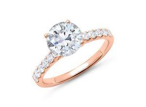 750er Roségold Ring mit Diamanten