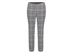 Betty Barclay Karo-Hose mit Gummizug schwarz/weiß, Gr. 46 - Damen Hose