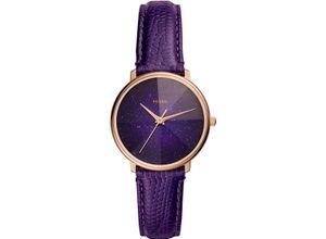 FOSSIL Damenuhr Fossil Damen-Uhren Quarz, violett, EAN: 4013496832754