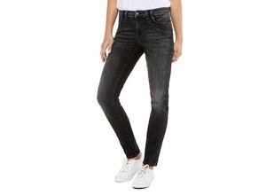 Gina Laura Damen Jeans Julia, Paisley-Muster, schmale Form, Ziersteine, anthrazit-denim, Baumwolle/Elasthan