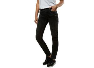 Gina Laura Damen Jeans Julia, Strass, schmale Form, schwarz, Baumwolle/Polyester/Elasthan