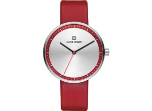 Jacob Jensen Damenuhr Jacob Jensen Damen-Uhren Rund Analog Quarz, rot, EAN: 8718569102838