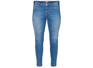 Junarose Jeans Caprihose medium blue denim, Gr. 54 - Damen Jeans