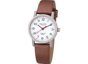 Regent Damenuhr Regent Damen-Uhren Analog Quarz, braun, EAN: 4050597190321