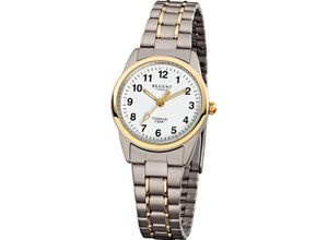 Regent Damenuhr Regent Damen-Uhren Analog Quarz, silber, EAN: 4045346053460