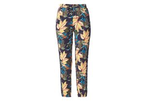 S.oliver Red Label Smart Chino 7/8-Hose aus Satin dark blue floral print, Gr. 38 - Damen Hose