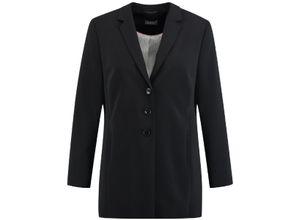 Samoon Klassischer Longblazer schwarz, Gr. 48 - Damen Blazer