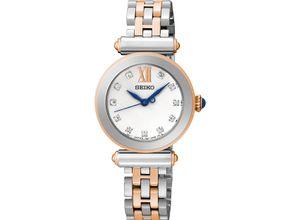 Seiko Damen-Uhren Analog Quarz, silber, EAN: 4954628167781