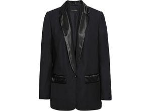 Smoking-Blazer langarm in schwarz für Damen von bonprix