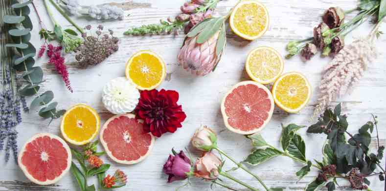 Mood Board Boho Chic with Citrus Fruits | Holex Flower