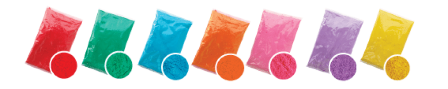 holi color powder bags 70 gram and 100 gram