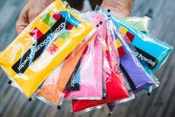 colour powder bags