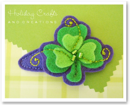 Easy Sewing Projects Shamrock Barrette
