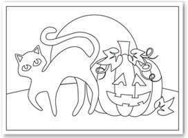 free halloween coloring