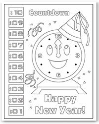 new years coloring