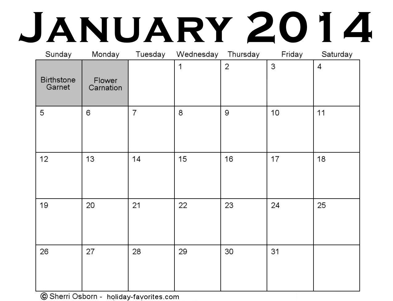 January Holidays