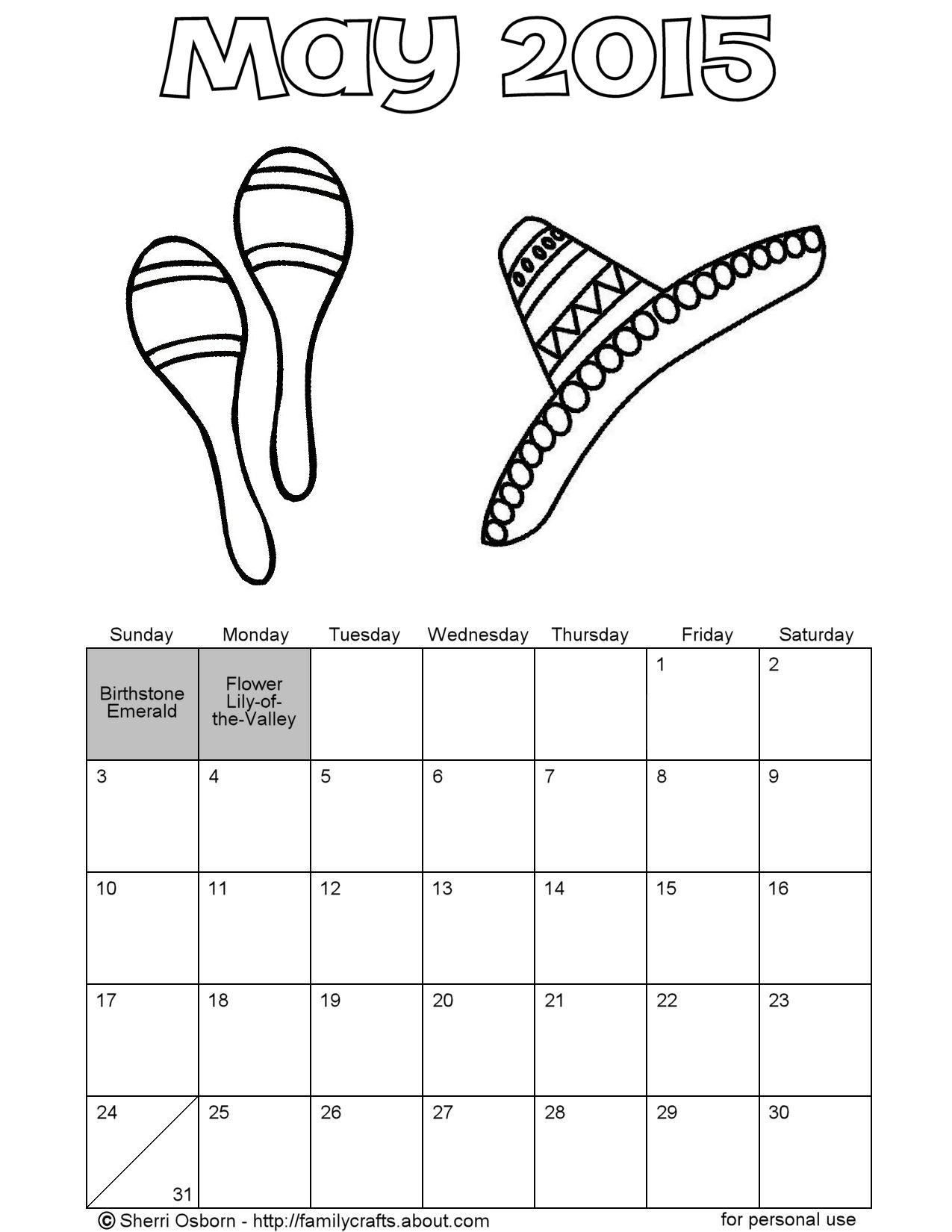 Cinco De Mayo Printable Worksheet For Kindergarten
