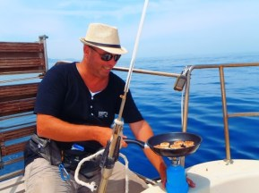 Sailing with a sailing boat Greek Islands