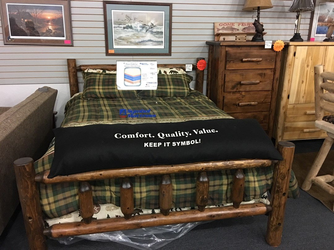 holiday-furnishings-wood-bed-mattress