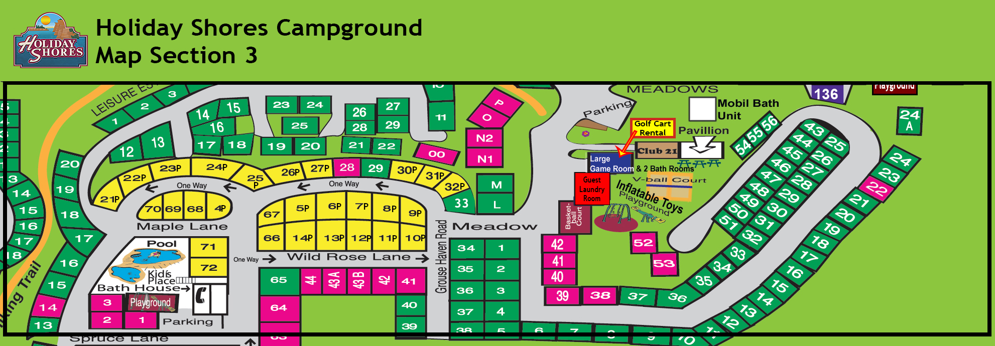Resort Map Section 3