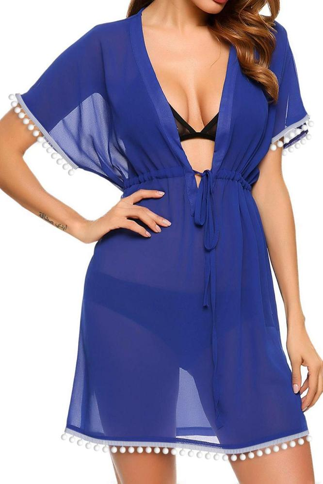 Cover up Marini Blauw - voorkant