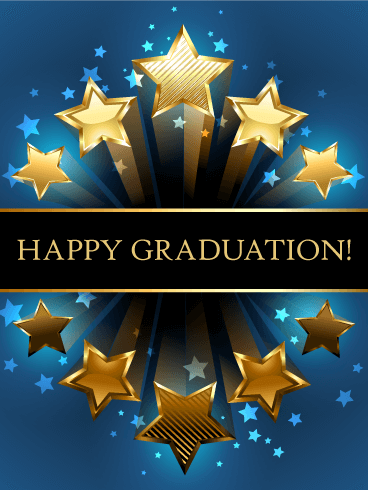 Shooting Star Graduation Card Birthday Amp Greeting Cards