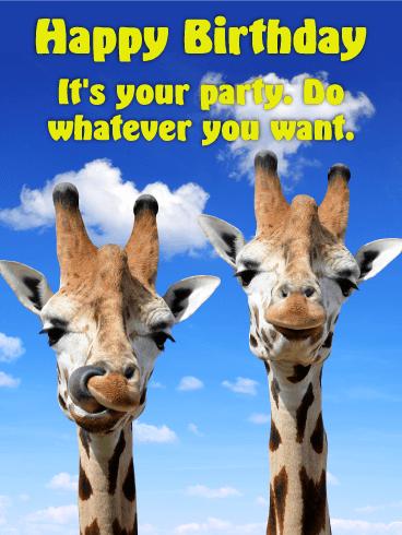 Chilling Giraffe Happy Birthday Card Birthday Amp Greeting Cards By Davia