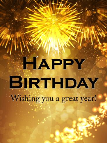 Wishing You A Great Year Happy Birthday Celebration Card