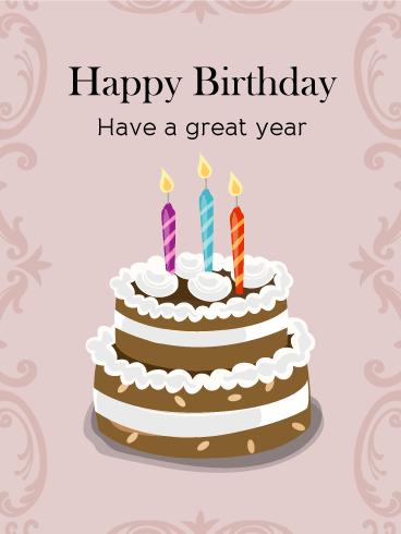 Birthday Chocolate Cake Amp Candle Card Birthday Amp Greeting Cards By Davia