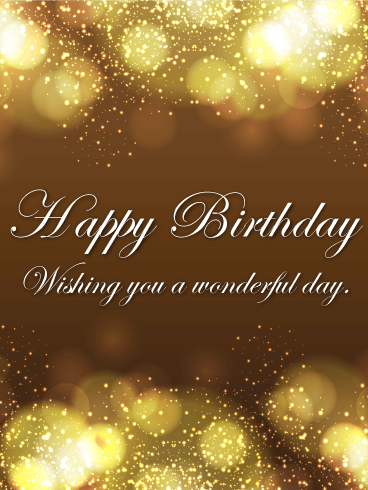 Shining Happy Birthday Card Birthday Amp Greeting Cards By