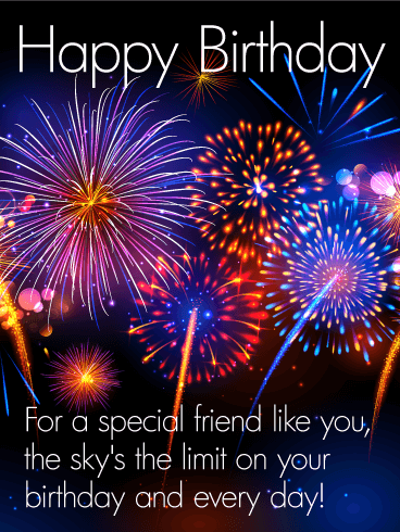 To A Special Friend Happy Birthday Card Birthday Amp Greeting Cards By Davia