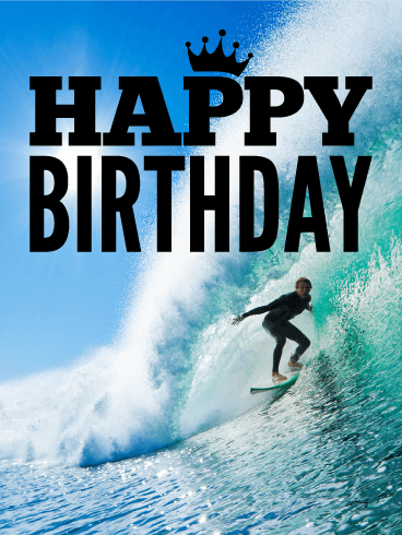 Catch The Wave Happy Birthday Card Birthday Amp Greeting Cards By Davia