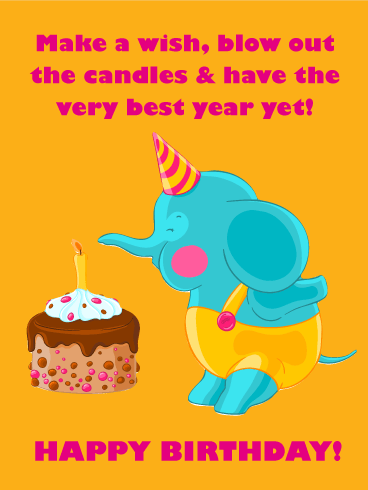 Have The Best Year Happy Birthday Card For Kids Birthday Amp Greeting Cards By Davia