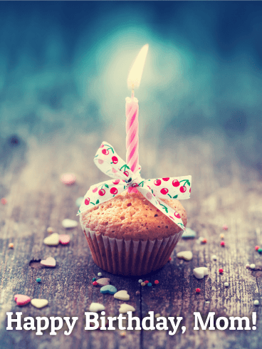 Birthday Cupcake Card For Mom Birthday Amp Greeting Cards