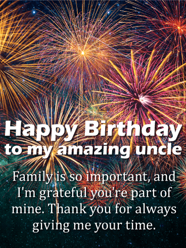 I Am Thankful Happy Birthday Wishes Card For Uncle
