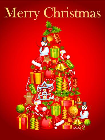 Fun Christmas Tree Card Birthday Amp Greeting Cards By Davia