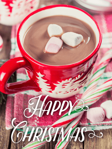 Tasty Hot Chocolate Christmas Card Birthday Amp Greeting