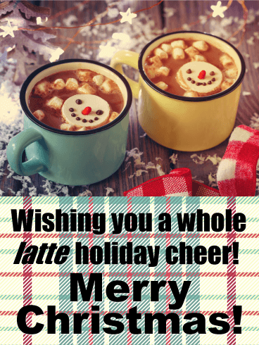 A Whole Latte Holiday Funny Christmas Card Birthday