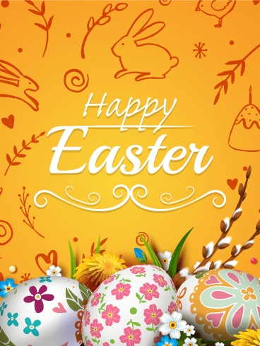 Charming Happy Easter Card Birthday Amp Greeting Cards By
