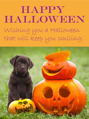 Big Smiles Happy Halloween Card Birthday Amp Greeting