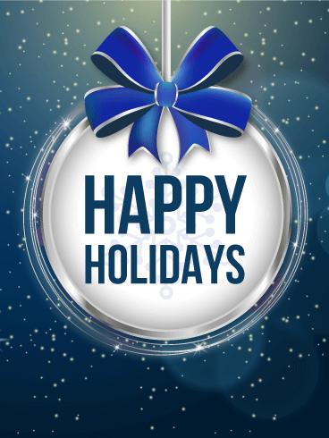 Happy Holidays Ornament Card Birthday Amp Greeting Cards