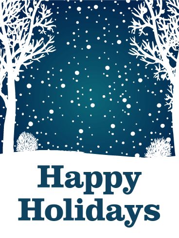 Let It Snow Happy Holidays Card Birthday Amp Greeting