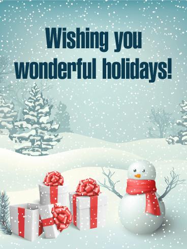 Have Wonderful Holidays Seasons Greetings Card