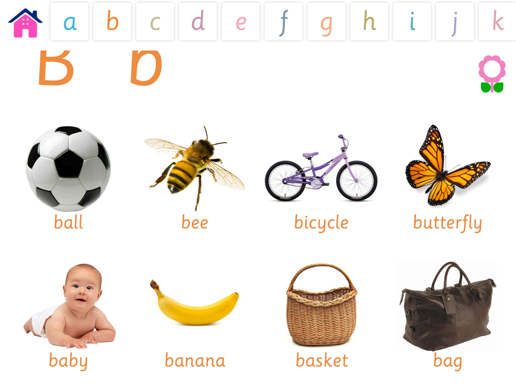 Alphabets Vocabulary Book For Preschool Kids