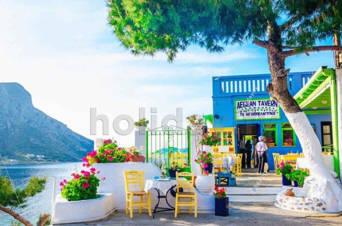 Taverna Aegean, Kalimnos, Yunanistan